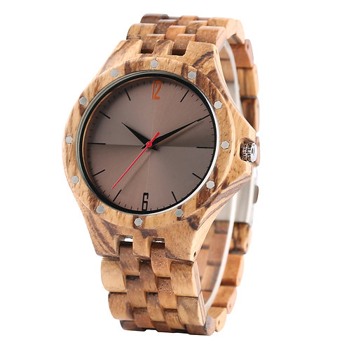 Unique Business Mens Wristwatch Vinatge reloj Wooden Quartz Watch