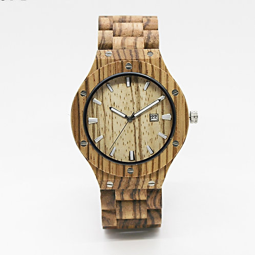 10pcs Men Fashion Zebra Wooden Watch Casual Quartz Watch EcVendor
