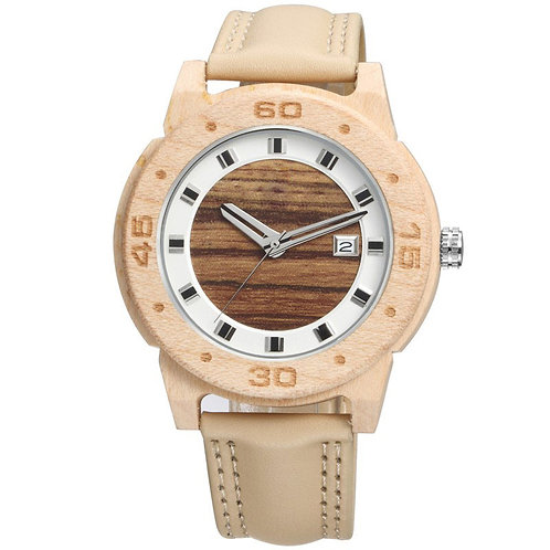 Women OEM Leather Wood Watches Wholesale from EcVendor