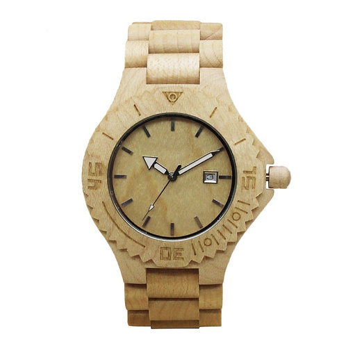10pcs Men Fashion Wooden Watch Casual maple Quartz Watch from EcVendor
