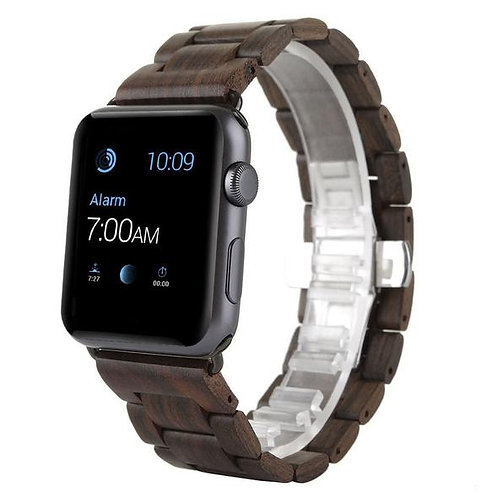 Black Sandal Wood Apple Watch Band (Series 4) from EcVendor Eco Wear