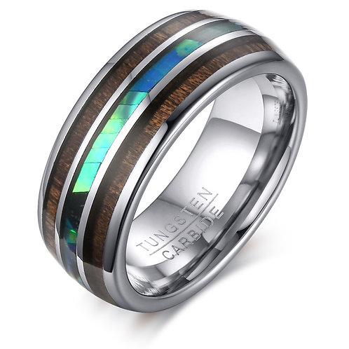 NewTUNGSTEN CARBIDE Woodgrained Wooden Ring EcVendor