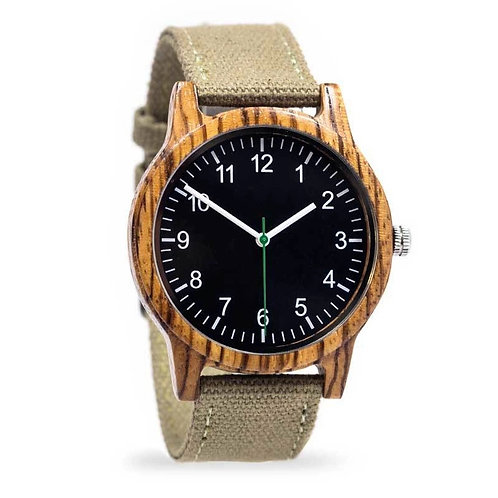 New Zebra wood Watch wristwatch Original wooden watch from EcVendor
