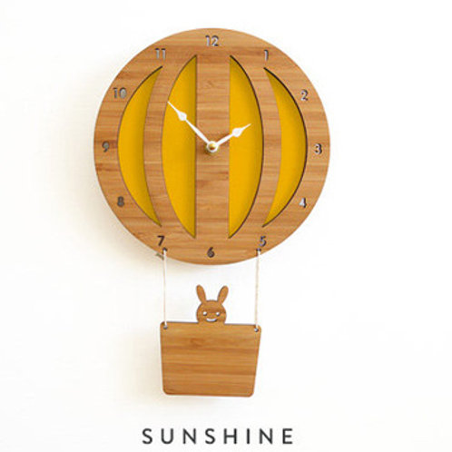 Home Wall Clock Wood handmade Bamboo Wall clock EcVendor