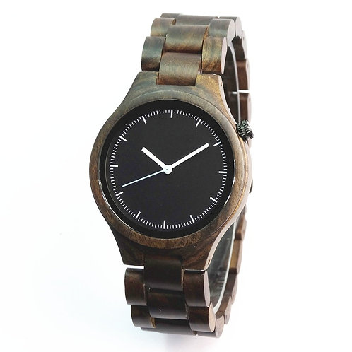 Wholesale 10pcs of Black SandalWood Watch Unisex Relogio Masculino DeLux Gift