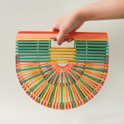 Colorful Bamboo Bag Wood Hand Bag for Lady Handmade Bags from EcVendor