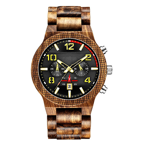 New Chronograph EcVendor Wood Wristwatch