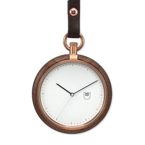 New Style Unisex Minimal Design Wood Pocket watch EcVendor