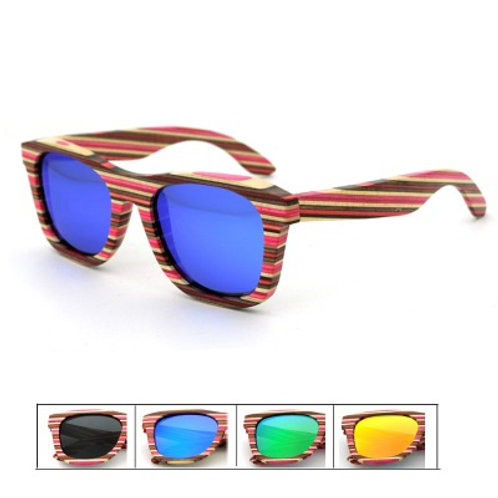 Environmental Wooded Luxury Natural Sunglass Handmade with Colors