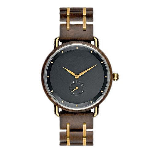 New EcVendor Men Wood Wristwatch Metal Wooden Wear