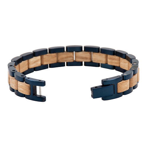 Olive wood steel unisex Bracelets fashion Wood design from EcVendor