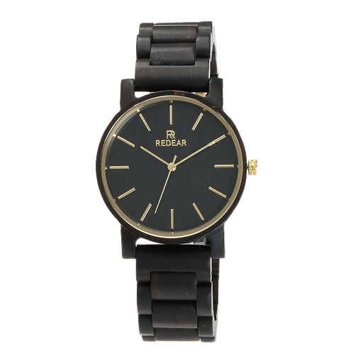 Men Women Wooden Watches Luxury Black SandalWood  Quartz watch