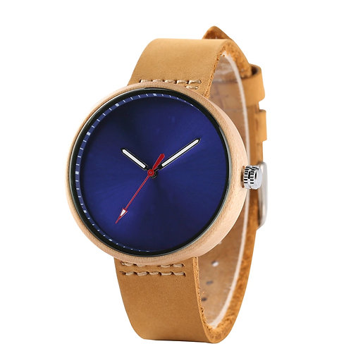 Women Watches Quartz Watch Handmade Round Bamboo Watches