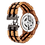 Thumbnail: Men's Dual Wheel Automatic Zebra Wood Watchfrom EcVendor