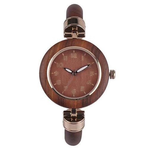 EcVendor Lady Bracelet Style Wood Wristwatch Women Wooden Watch