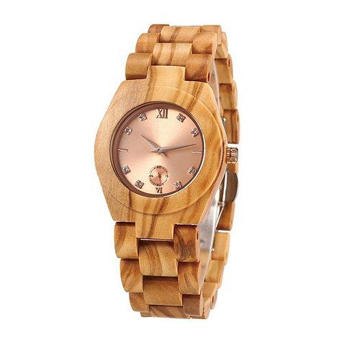 Olive Wood Lay Wristwear Women Wood Watch from EcVendor