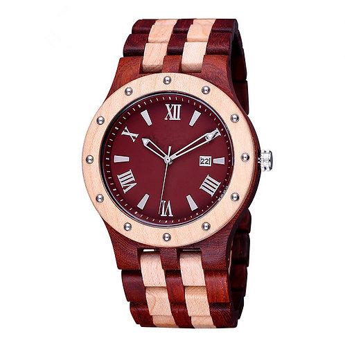Men big size wooden watch, real wood wristwatch for men