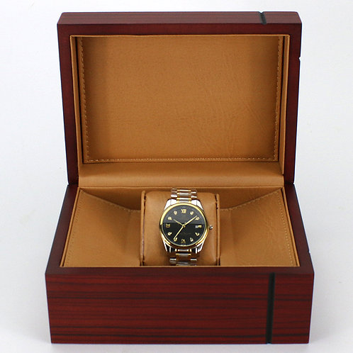 Customized High Grade red Wood Watch box Luxury Wood box from EcVendor