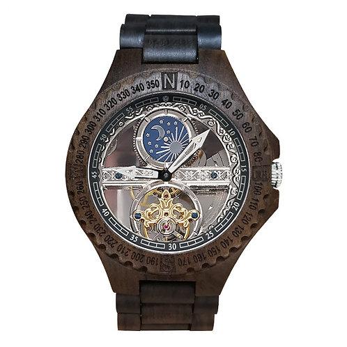 Wooden Watch Casual Wood Automatic Watch wood band week calandar Men Watch