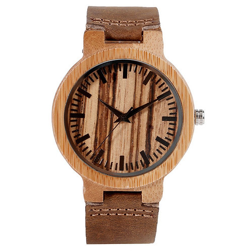 Hand-made Wood Grained Wooden Dial Wrist Watches