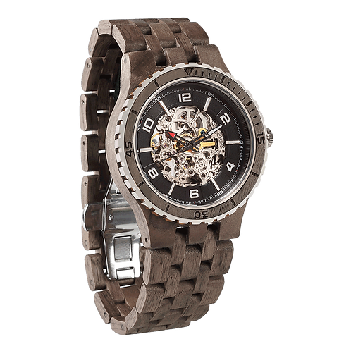 Men's Automatic Ebony Walnut Black Wood Watch | Made from 100% Natural Wood