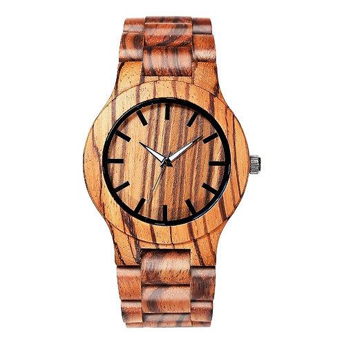 10pcs Hot Zebra Wood Unisex Watches Men&Women Woodwatch