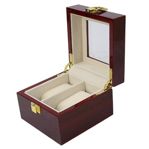 Wood High Grade Elegant 2 Slots Lacquer Watch Box