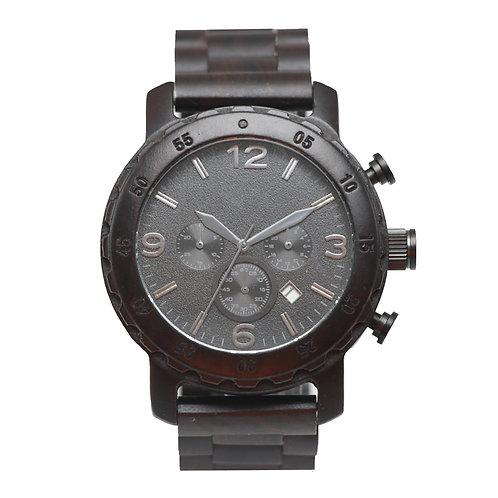 Black Sandal Wood Chronograph Wristwatch Wooden Watch EcVendor Eco Wear