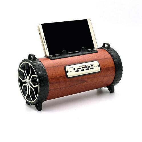 CH2.1 Wireless Bluetooth Speaker Portable 2000mah Built in Wooden Speaker