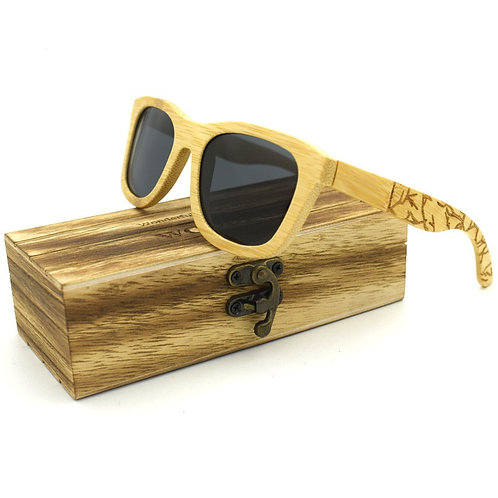 Unisex Stylish Natural Bamboo uv400 Eyewear Wood Eco Natural Classic EcVendor