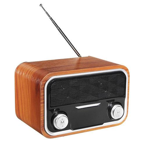 Bluetooth4.1 Wireless Wooden Speaker 2.0 Channel Subwoofer USB Portable Speaker