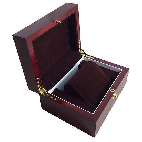 Red Wood Box reloj caixa relogio woodgrained boxe Jewelry Display Box