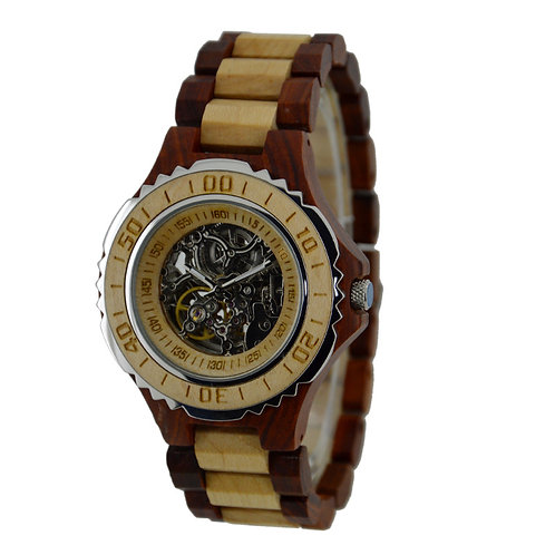 Men Automatic Movement Wood Watches from EcVendor