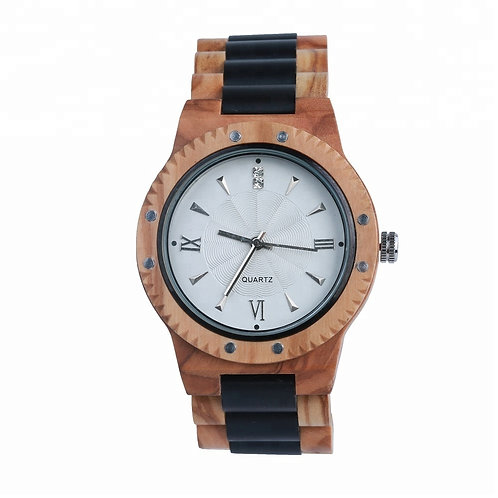 New Men Quartz EcVendor Olivewood Mixed Sandalwood Wristwatch WoodWatch