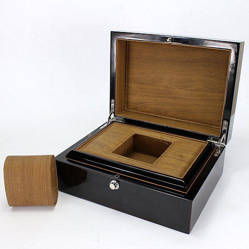 Customized High Grade Black Wood Watch box Luxury Wooden box from EcVendor