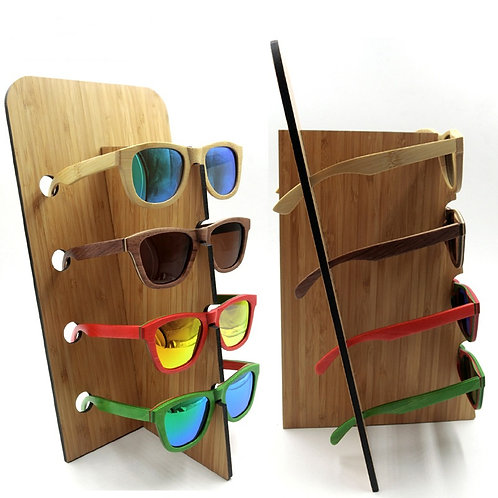 New Glasses Display Vintage Bamboo - Wood Sunglasses Frame Holder EcVendor