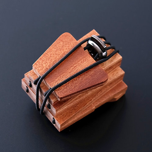 Natural tie for MenEcVendor Red Wood Necktie Fashion