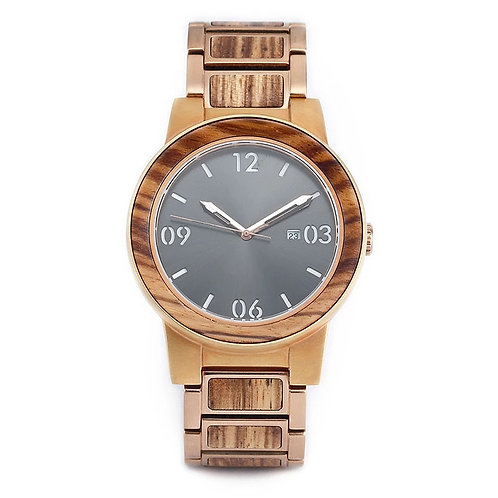 Original Grain New Arrival Stainless Steel Wood Watch for Men Business