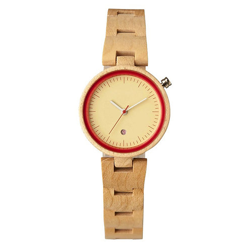 New EcVendor Lady Wood Wristwatch Natural Wood timepiece