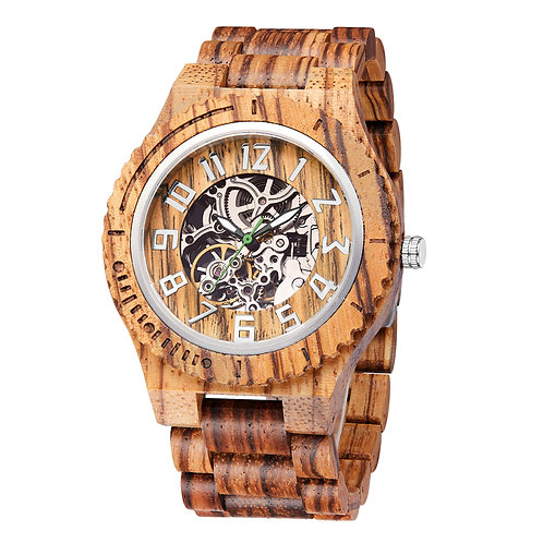 New Zebra wood Automatic wristwatch,wooden watch from EcVendor