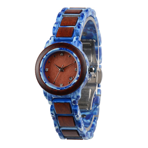 New EcVendor Wood Marble Jade Natural Timepiece for Lady