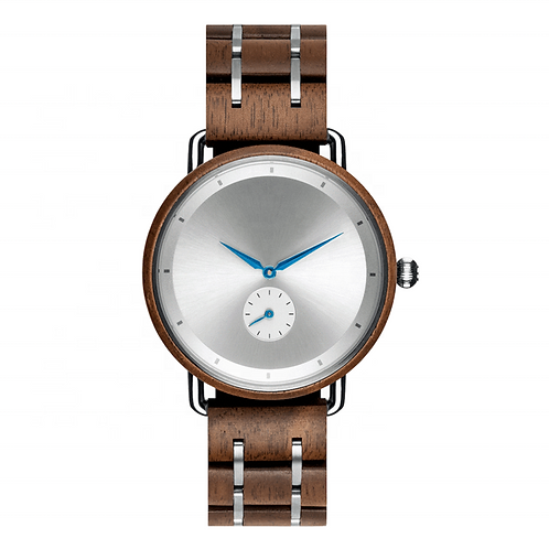 New Stainless Steel Mix Wood Chronograph Wooden Watch from EcVendor