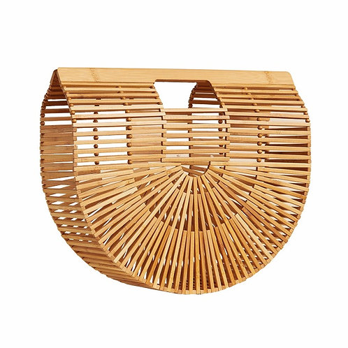 Eco Natural Wood Bag EcVendor New Handmade Bamboo Bag for Ladies