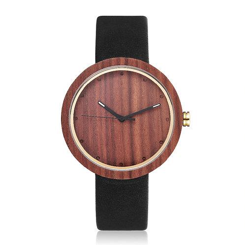 Classy Wood Watch Men Women Wooden Wristwatch Cowhide Leather Strap