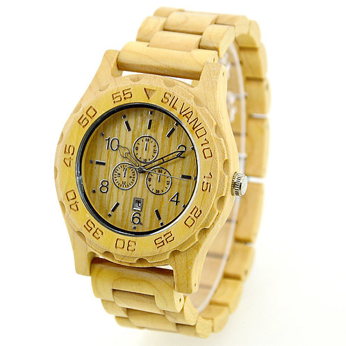 Men Chronograph Wooden Watch from EcVendor