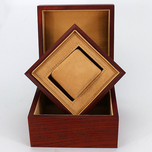 High Quality Cotton inside red watch box wooden design from EcVendor