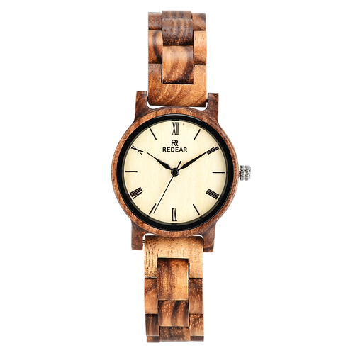 Wholesale 10pcs of Zebra Wood Unisex Watches Men&Women Woodwatch