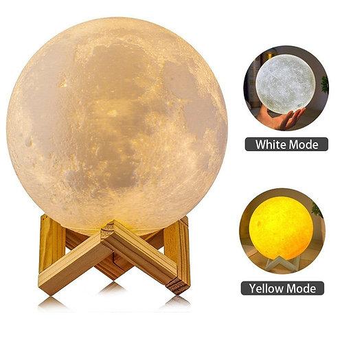 3D Moon Lamp Wood Lamp from EcVendor 15cm