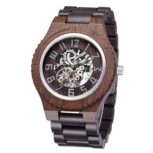 New  Sandalwood Automatic wristwatch,Mechanical wooden watch from EcVendor