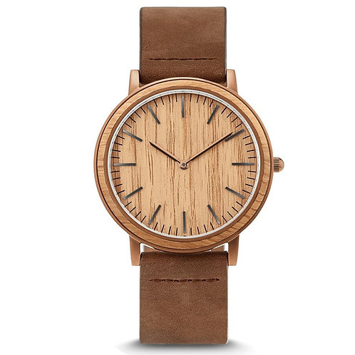 Relejo Hombre stainless steel customized wood watch, simple luxury wooden watch